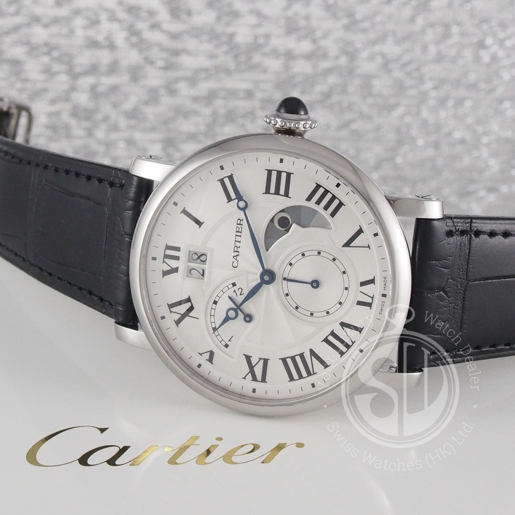 0ccc29d6409 Cartier W1556368 Rotonde De Cartier Large Date Retrograde Second Time Zone  And Day Night Indicator